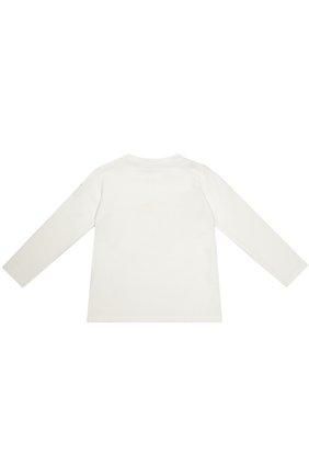 Детский футболка джерси с принтом MONCLER ENFANT белого цвета, арт. B2-951-80606-50-87275 | Фото 2