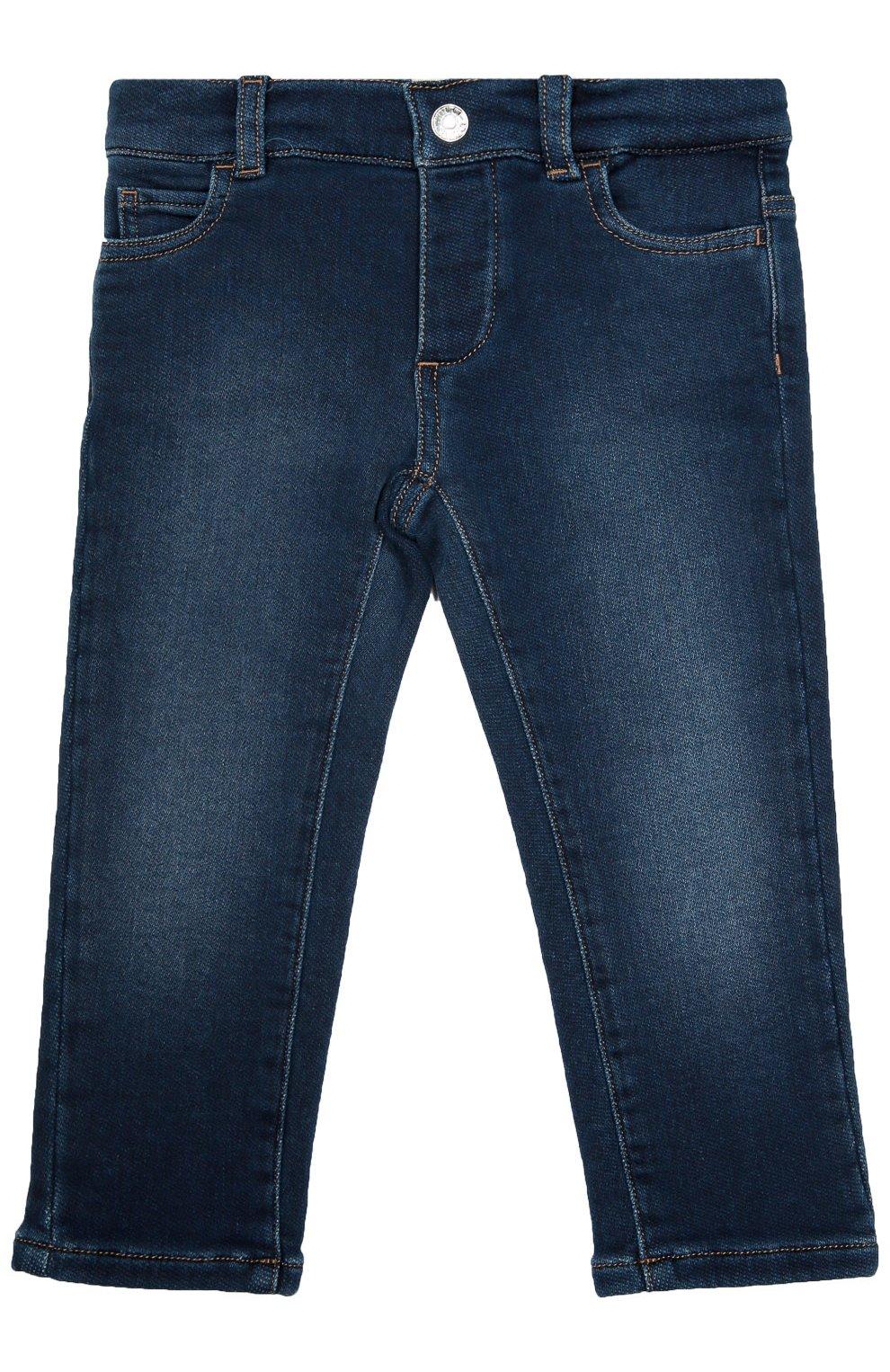 Детские джинсы из эластичного хлопка GUCCI синего цвета, арт. 411225/XD426 | Фото 1