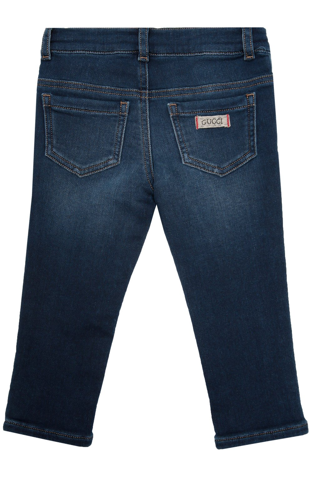 Детские джинсы из эластичного хлопка GUCCI синего цвета, арт. 411225/XD426 | Фото 2