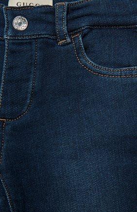 Детские джинсы из эластичного хлопка GUCCI синего цвета, арт. 411225/XD426 | Фото 3