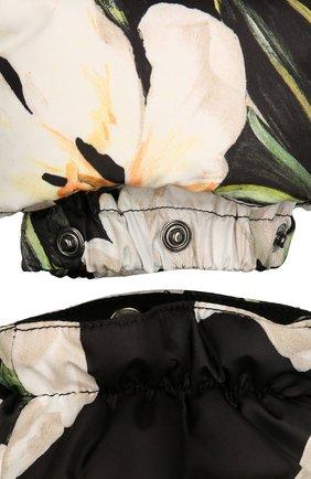 Комбинезон с цветочным принтом Dolce & Gabbana черно-белого цвета | Фото №4