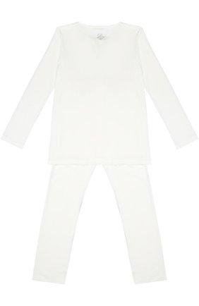 Пижама с кружевной отделкой | Фото №2