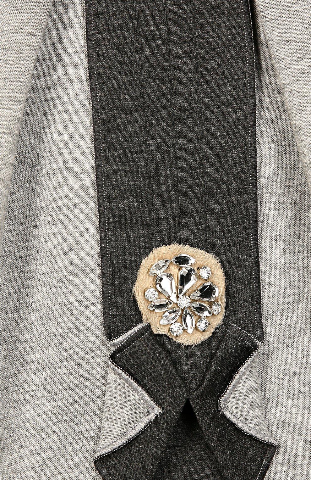 Юбка с контрастной декоративной отделкой   Фото №3