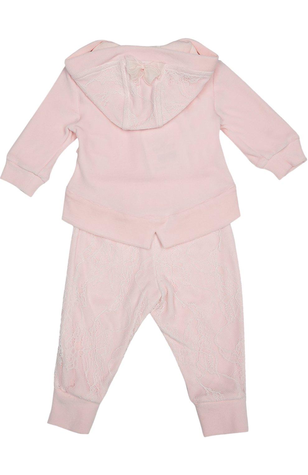 Детский костюм спортивный с футболкой  ALETTA розового цвета, арт. RP666112CIN/1M-18M | Фото 2