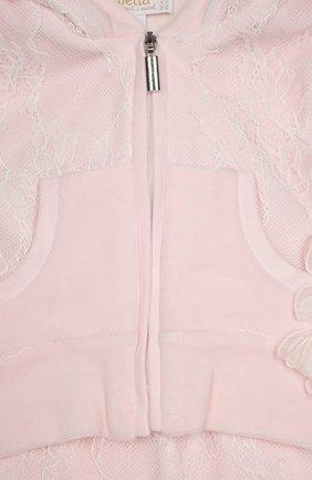 Детский костюм спортивный с футболкой  ALETTA розового цвета, арт. RP666112CIN/1M-18M | Фото 3