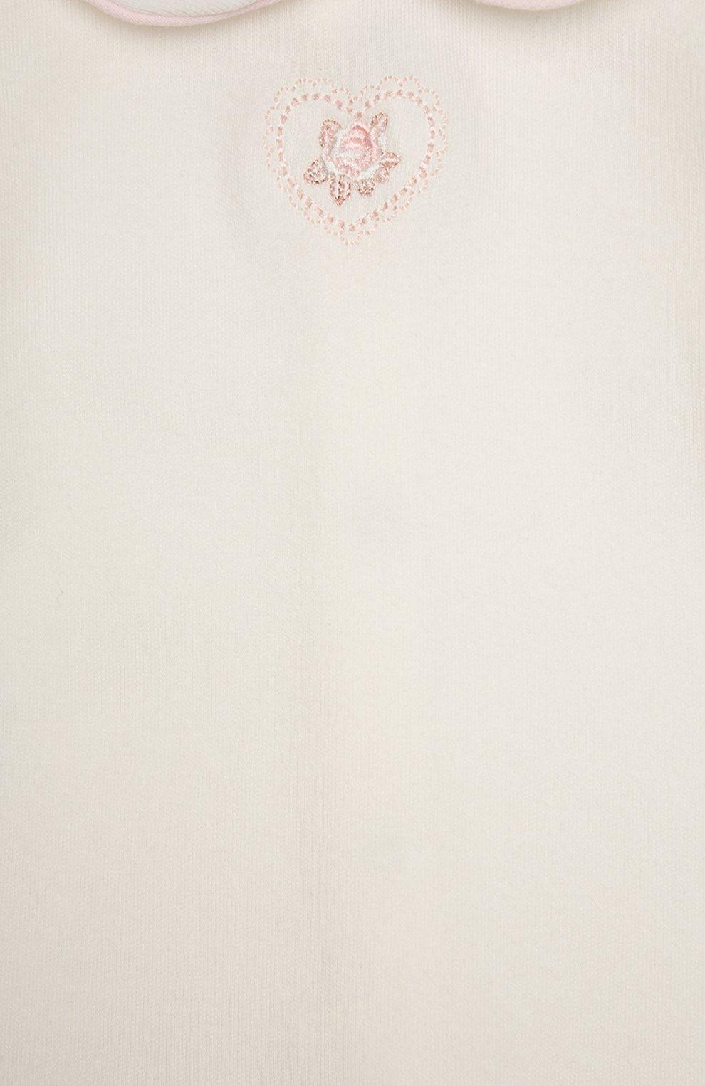 Детский костюм спортивный с футболкой  ALETTA розового цвета, арт. RP666112CIN/1M-18M | Фото 6
