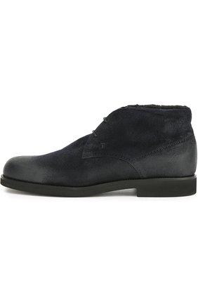 Замшевые ботинки с внутренней отделкой из овчины   Фото №1