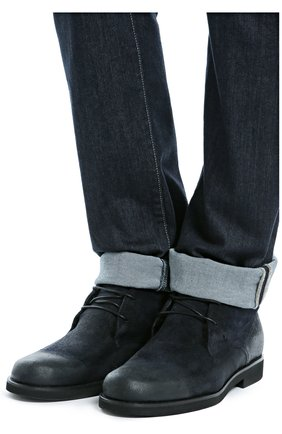 Замшевые ботинки с внутренней отделкой из овчины   Фото №2