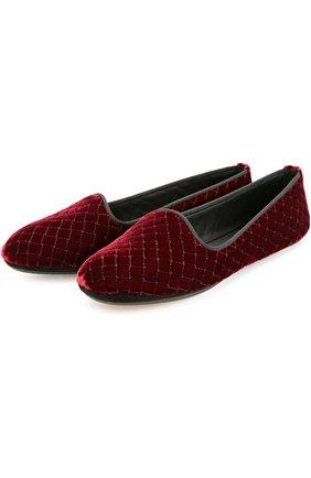 Бархатные домашние туфли | Фото №1