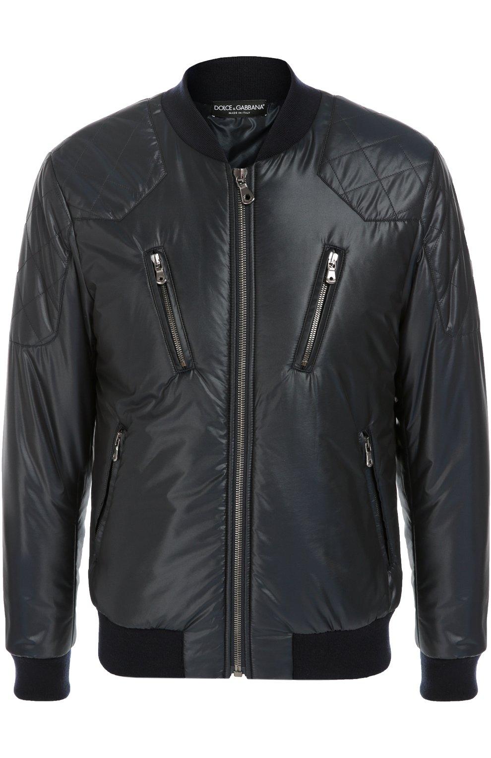 Утепленная куртка-бомбер со стеганой отделкой | Фото №1