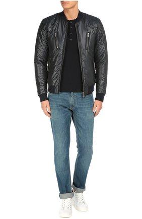 Утепленная куртка-бомбер со стеганой отделкой | Фото №2