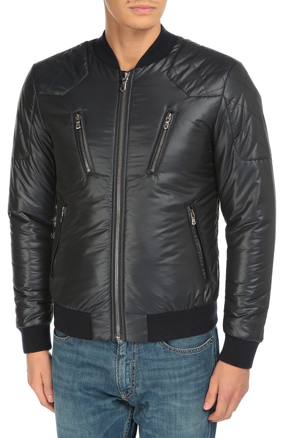 Утепленная куртка-бомбер со стеганой отделкой | Фото №3