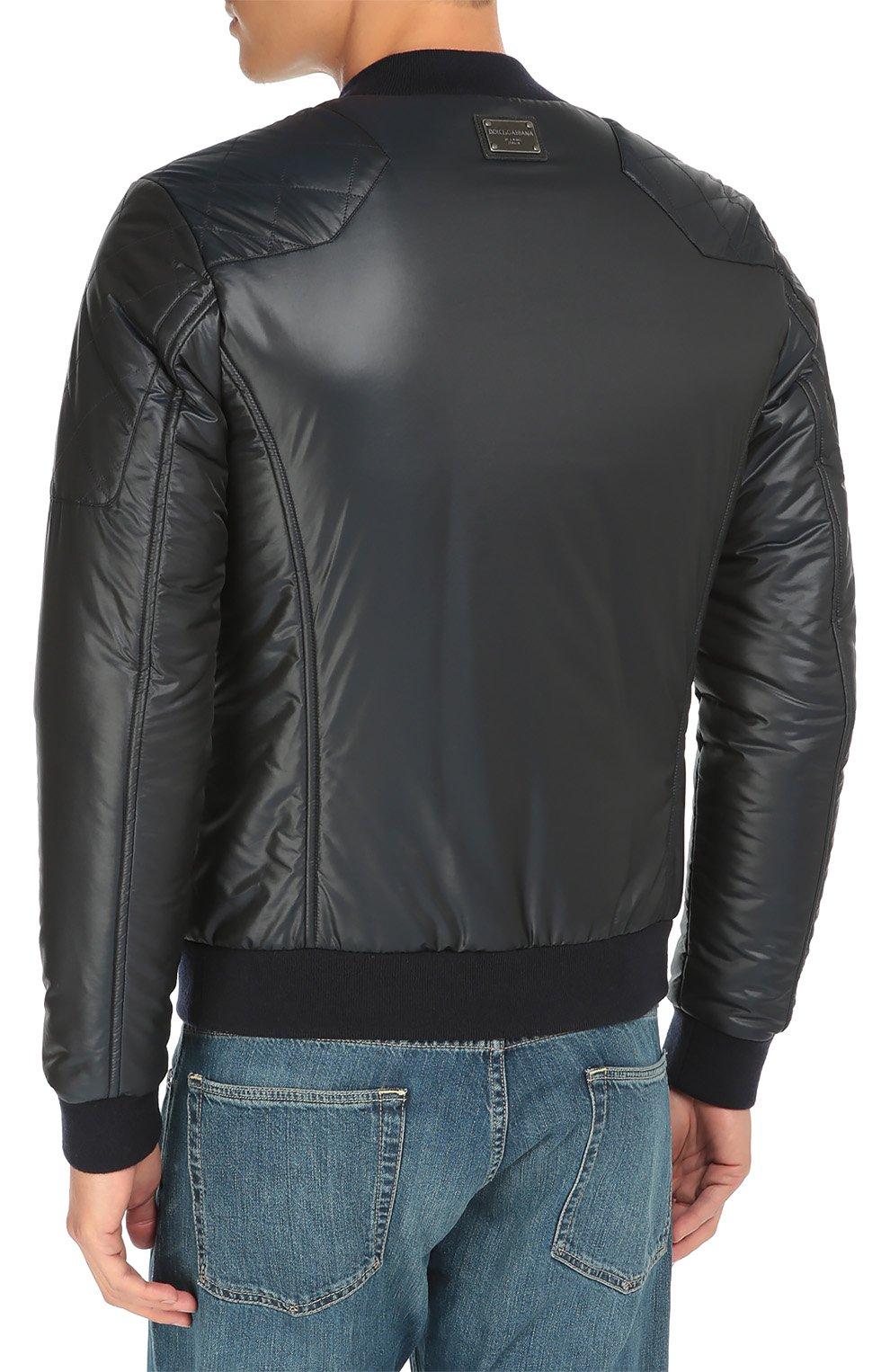 Утепленная куртка-бомбер со стеганой отделкой | Фото №4