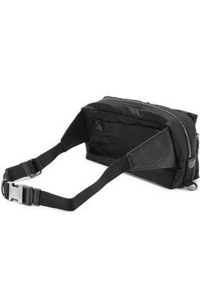 Поясная сумка Vulcano с аппликацией и отделкой из натуральной кожи Dolce & Gabbana черная   Фото №3