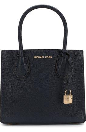 Сумка-тоут Mercer Medium MICHAEL Michael Kors темно-синяя цвета   Фото №1