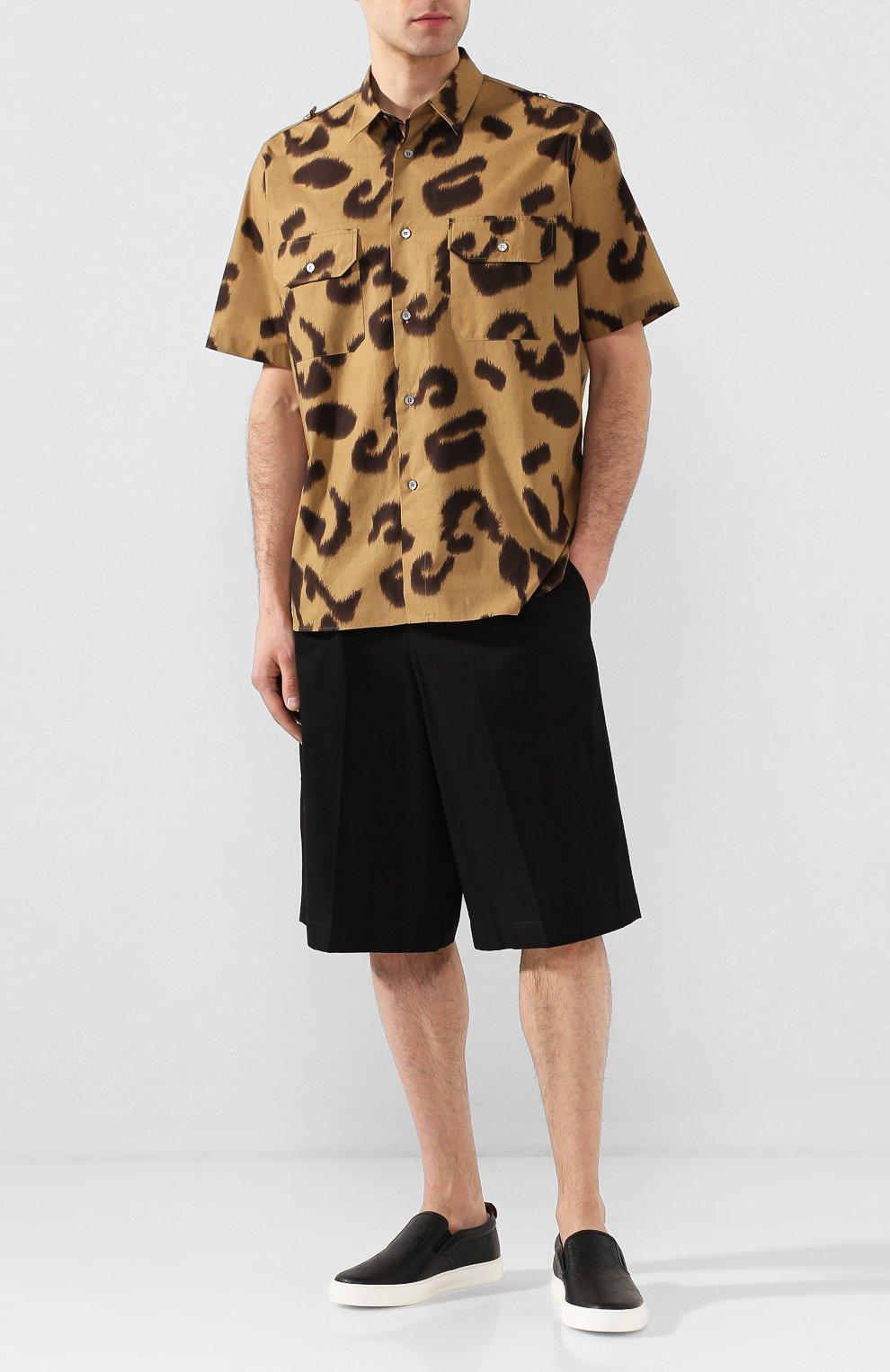 Мужские кожаные слипоны dublin GUCCI черного цвета, арт. 407364/CWCE0 | Фото 2