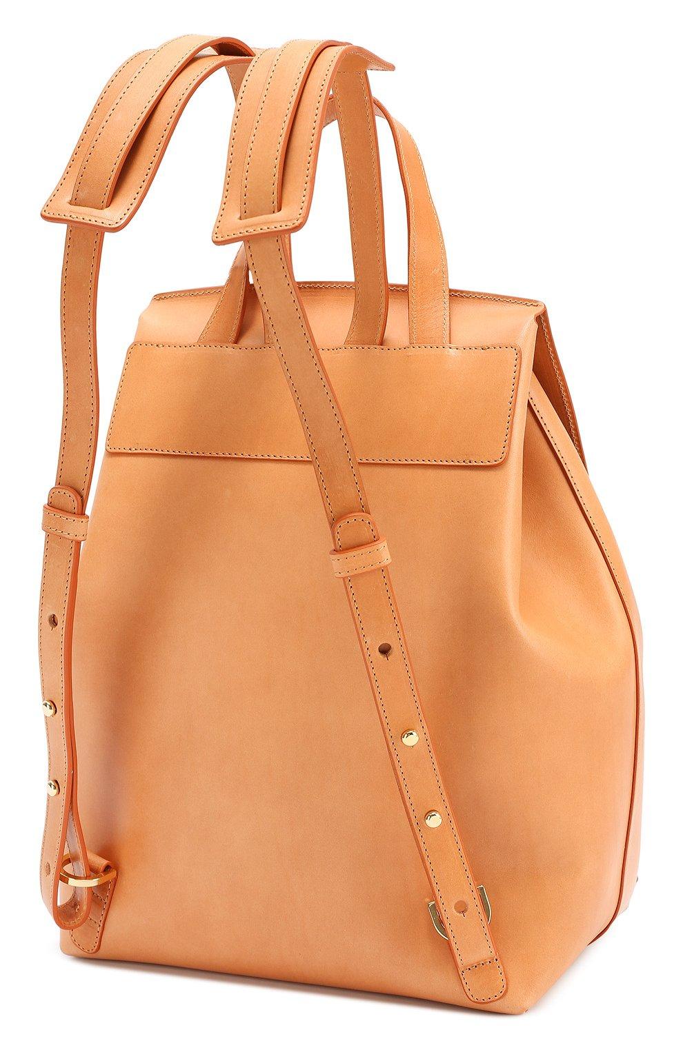 Кожаный рюкзак с клапаном   Фото №3
