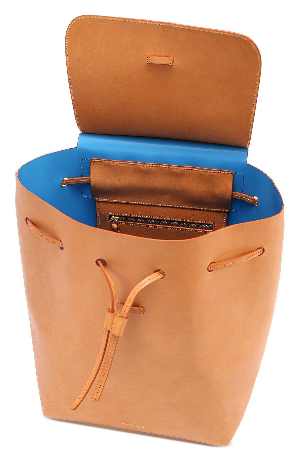 Кожаный рюкзак с клапаном   Фото №4