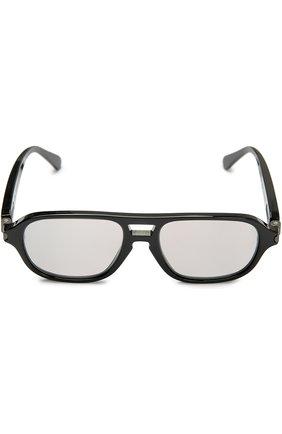 Мужские солнцезащитные очки BRIONI черного цвета, арт. BR0001S   Фото 1