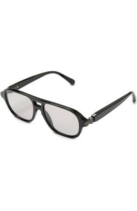 Мужские солнцезащитные очки BRIONI черного цвета, арт. BR0001S   Фото 2