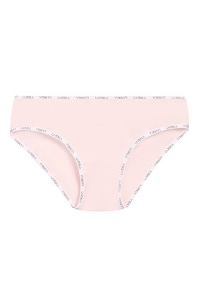 Детские хлопковые трусы с логотипом бренда LA PERLA розового цвета, арт. 51327/8A-14A | Фото 1