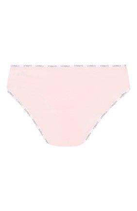 Детские хлопковые трусы с логотипом бренда LA PERLA розового цвета, арт. 51327/8A-14A | Фото 2