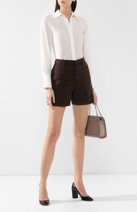 Женская кожаные туфли lauren CHLOÉ черного цвета, арт. CH26231/E75 | Фото 2