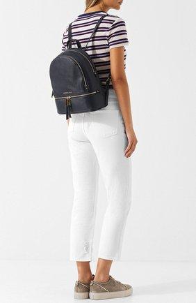 Кожаный рюкзак Rhea medium MICHAEL Michael Kors темно-синий   Фото №1