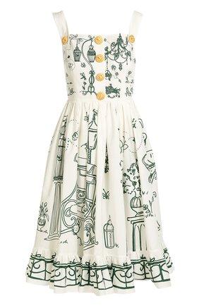 Приталенный сарафан с декоративными пуговицами Dolce & Gabbana белое | Фото №1