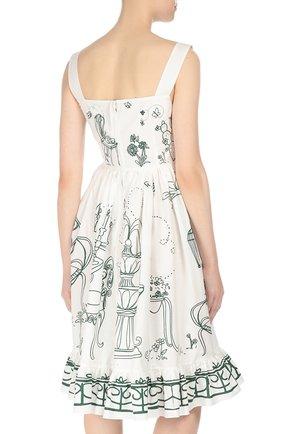 Приталенный сарафан с декоративными пуговицами Dolce & Gabbana белое | Фото №4