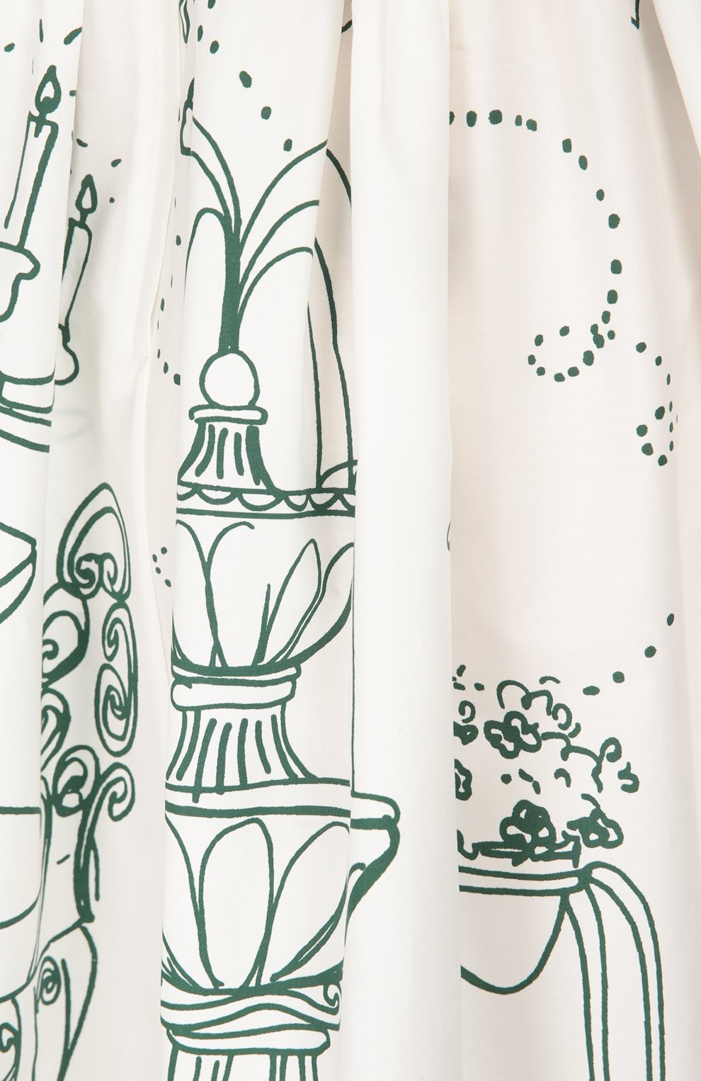 Приталенный сарафан с декоративными пуговицами Dolce & Gabbana белое | Фото №5