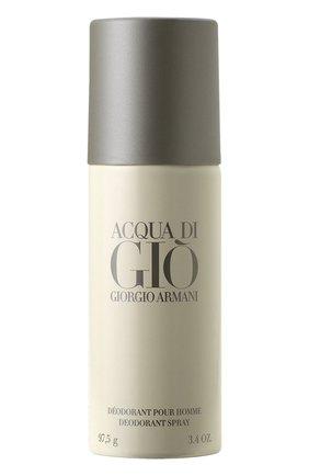 Женский дезодорант-спрей aqua di gio homme GIORGIO ARMANI бесцветного цвета, арт. 3360372058892 | Фото 1