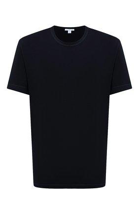 Мужская хлопковая футболка JAMES PERSE темно-синего цвета, арт. MLJ3311 | Фото 1