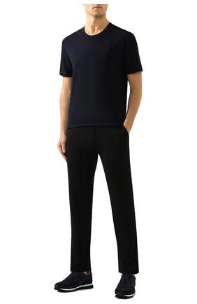 Мужская хлопковая футболка JAMES PERSE темно-синего цвета, арт. MLJ3311 | Фото 2