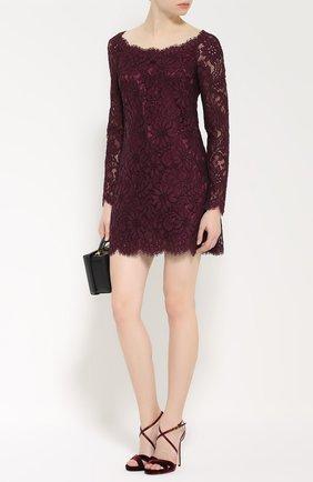Кружевное мини-платье с длинным рукавом   Фото №2