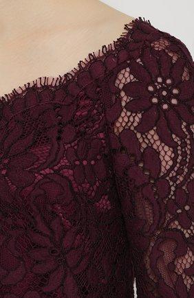 Кружевное мини-платье с длинным рукавом   Фото №5