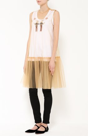 Топ без рукавов с яркой вышивкой Dolce & Gabbana белый   Фото №2