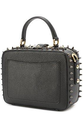 Сумка Dolce Soft с аппликациями и металлическими шипами Dolce & Gabbana черного цвета   Фото №3