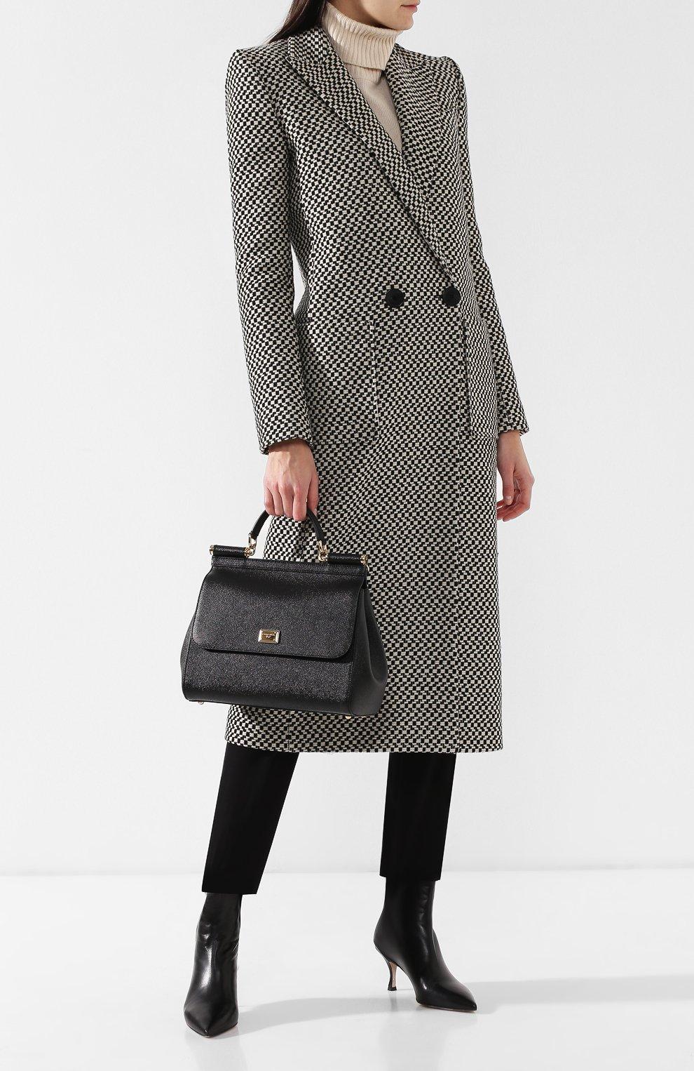 Сумка Sicily medium new Dolce & Gabbana черная цвета | Фото №2