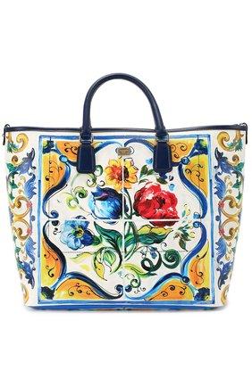 Сумка Lara с принтом Maiolica Dolce & Gabbana разноцветная цвета   Фото №1