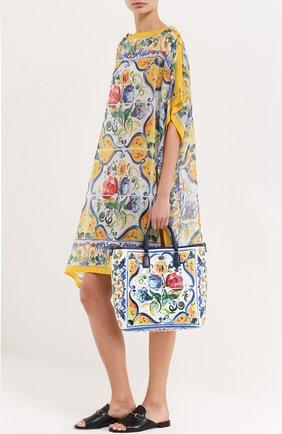 Сумка Lara с принтом Maiolica Dolce & Gabbana разноцветная цвета   Фото №2