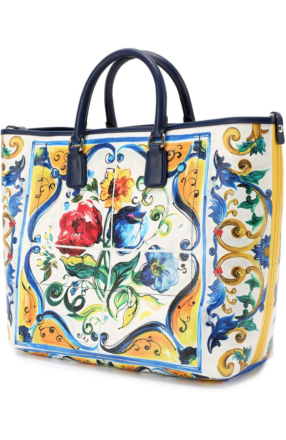 Сумка Lara с принтом Maiolica Dolce & Gabbana разноцветная цвета   Фото №3