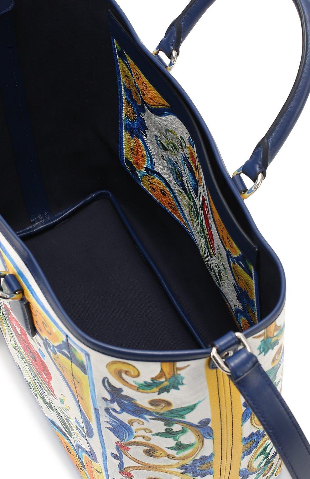 Сумка Lara с принтом Maiolica Dolce & Gabbana разноцветная цвета   Фото №4