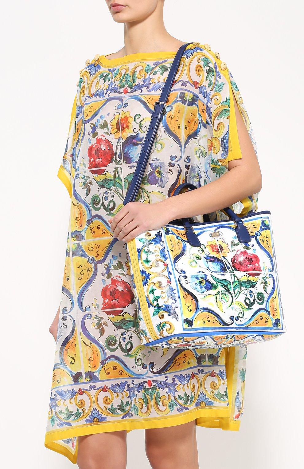 Сумка Lara с принтом Maiolica Dolce & Gabbana разноцветная цвета   Фото №5