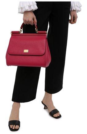 Сумка Sicily medium new Dolce & Gabbana фуксия цвета | Фото №2