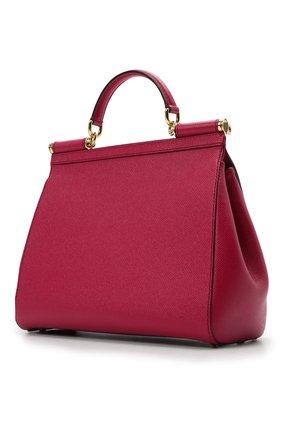 Сумка Sicily medium new Dolce & Gabbana фуксия цвета | Фото №3