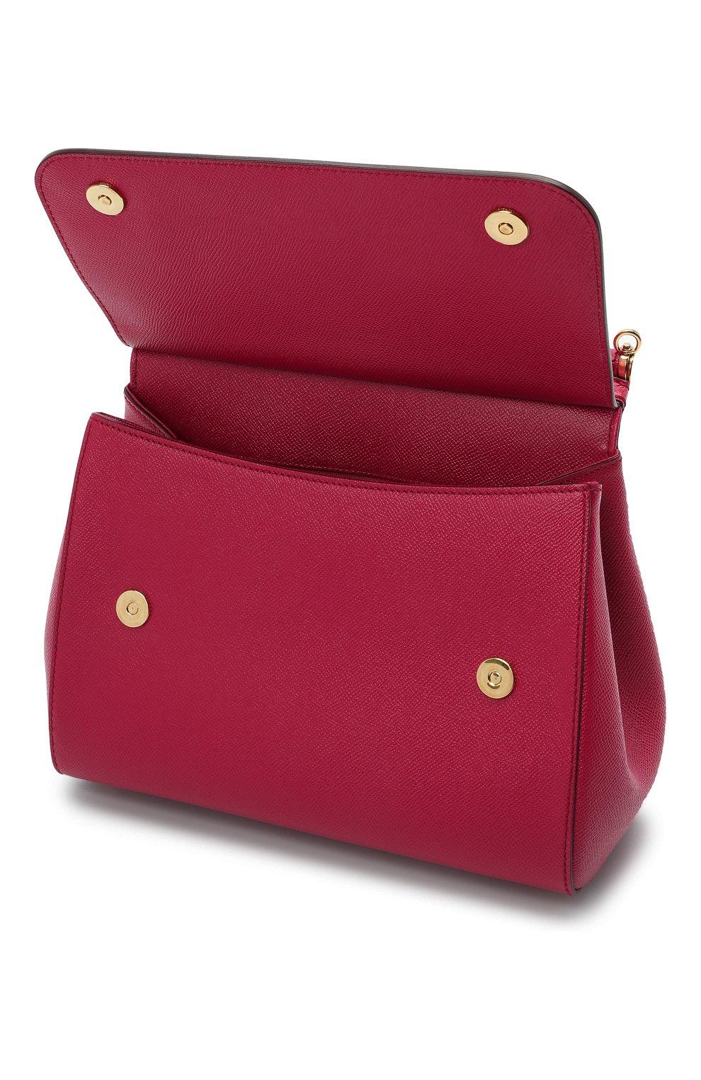Сумка Sicily medium new Dolce & Gabbana фуксия цвета | Фото №4