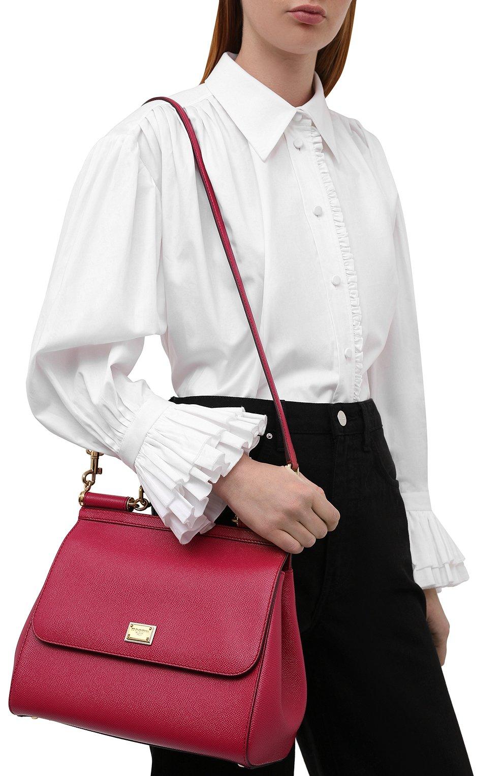 Сумка Sicily medium new Dolce & Gabbana фуксия цвета | Фото №5