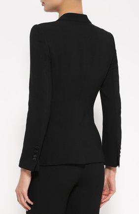 Приталенный жакет на пуговицах с декоративной отделкой Dolce & Gabbana черный | Фото №4