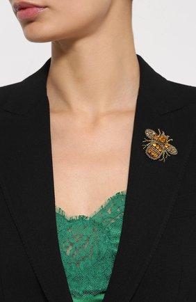 Приталенный жакет на пуговицах с декоративной отделкой Dolce & Gabbana черный | Фото №5